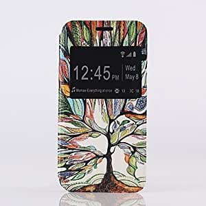 DUR Color of The Tree Pattern PU Open the Window Leather Case and Stand for Samsung Galaxy S5mini