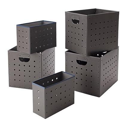 IKEA PS 2017 caja conjunto de 5 gris 103.346.49
