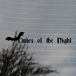 amazon com cuties of the night bat vampire vinyl decal black
