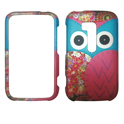 Nokia Blue Phone Faceplates (Blue Pink Owl Nokia Lumia 822 / Atlas Verizon Case Cover Hard Phone Case Snap-on Cover Rubberized Touch Faceplates)