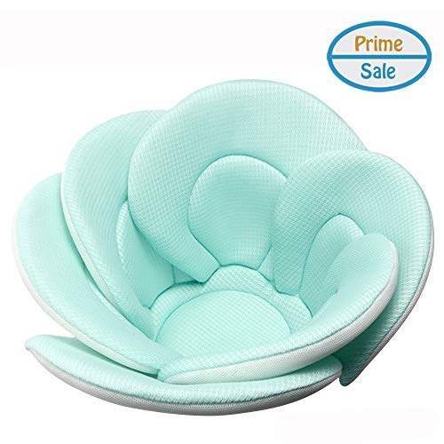Baby Bath Cushion Sink Bather, Soft Quick Drying Bathtub Mat for Infant Bathing Tub Seat Support,Machine Great, BPA Free,6-Petal Flower