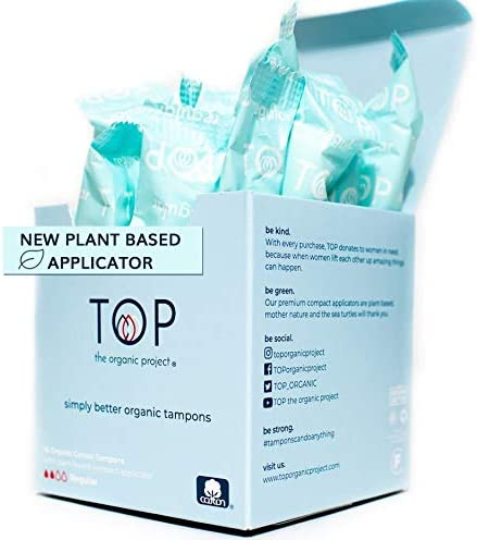 TOP Certified Organic Regular Cotton Tampons with New Plant Based Applicator