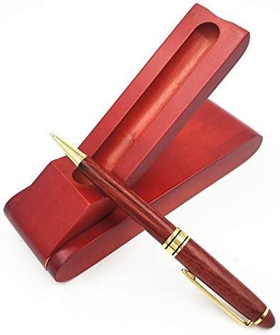 Palisander Unterschrift Pen Kugelschreiber Unterschrift Pen-Set Kreative Holz Briefpapier Kalligraphie Tinte Refill-Business-Stift (Size : Ballpoint pen set)