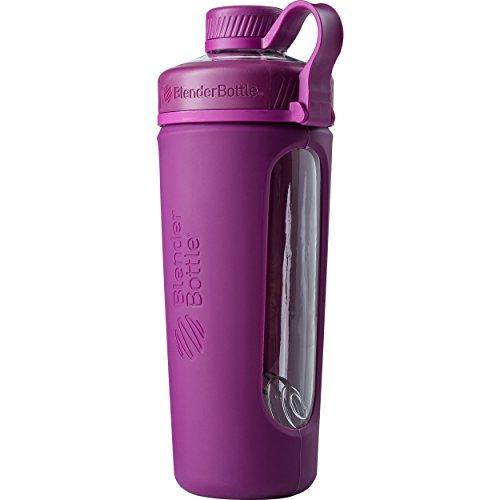 Plum Glass - BlenderBottle Radian Glass Shaker Bottle, Plum, 28-Ounce