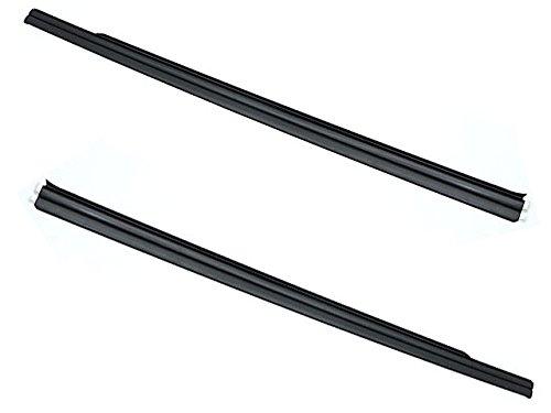 - BMW e46 COUPE 1/4 window Seal Rail L+R (x2) Matte Black