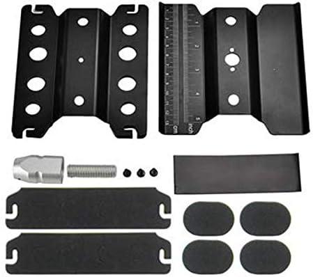 Naliovker Metal Aluminum Rc Car Workstation Work Stand Repair 360 Degree Rotation For 1//8 1//10 Scale Model Black