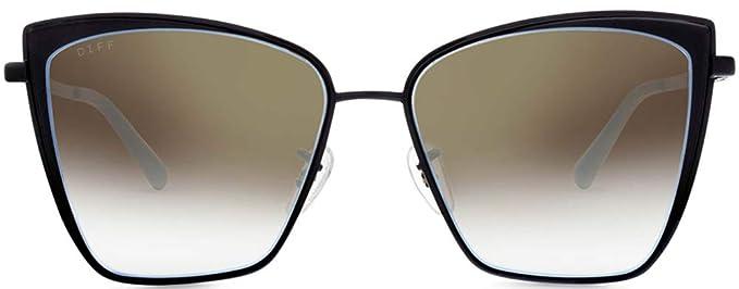 5dcfb0b4e56fa Amazon.com  Diff Eyewear  Becky - Designer Cat Eye Sunglasses - 100 ...