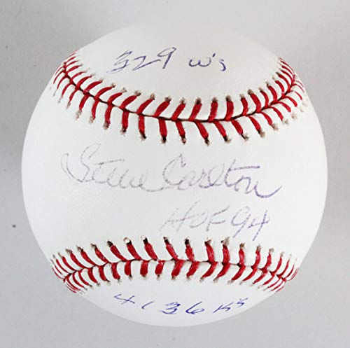 (Steve Carlton Signed Baseball Phillies - COA JSA)