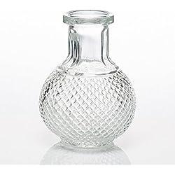 Richland Glass Bud Vase Round Perfume Bottle Set of 36