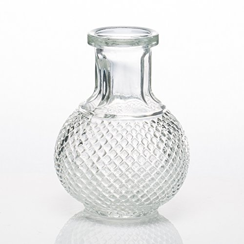 - Richland Glass Bud Vase Round Perfume Bottle Set of 12