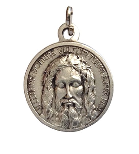 (I G J The Holy Face Shroud of Jesus Christ Medal - Real Italian Masterpiece)