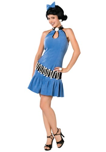Betty The Flintstones Costume (Rubie's Costume Co Women's The Flintstone's Fuller Cut Betty Rubble Costume, Blue, Medium)
