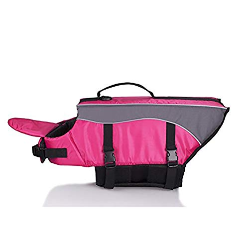 Pink Medium Pink Medium Pet Life Jacket Dog Swimsuit Safety Clothing Dog Life Adjustable Jacket pet Safety Float Vest Swimming Boat Beach Game lifejacket,Pink,M