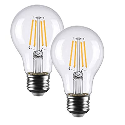 Smart Light Bulb Works with Alexa Google Home No Hub Required, LED Filament Edison Bulb Clear ST64 ST21 Seetoo (Pack of 2)