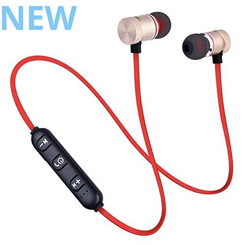 SirTech Bluetooth 4.1 Earbuds Wireless Headphones Bluetooth Headset Sport Earphones for Running Wireless Earphones Noise Canceling Headphones with Microphone Sweatproof Red