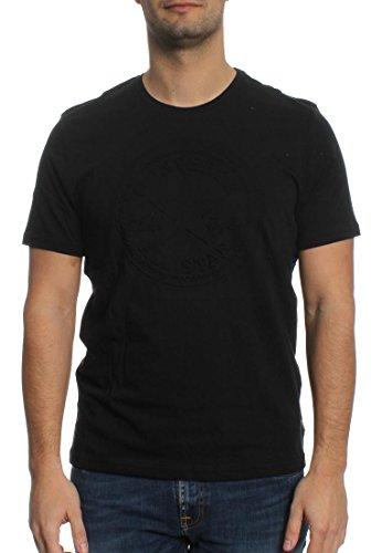 Converse T-Shirt Men EMBOSSED CP 10001259 Schwarz 001