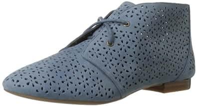 Nine West Women's Lola Boot,Blue Leather,10.5 M US
