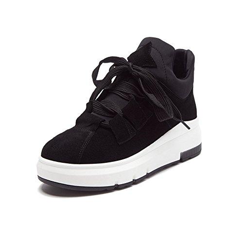Cybling Dames Hoogte Toenemende Schoenen Mode Casual Sneakers Sneakers Zwart