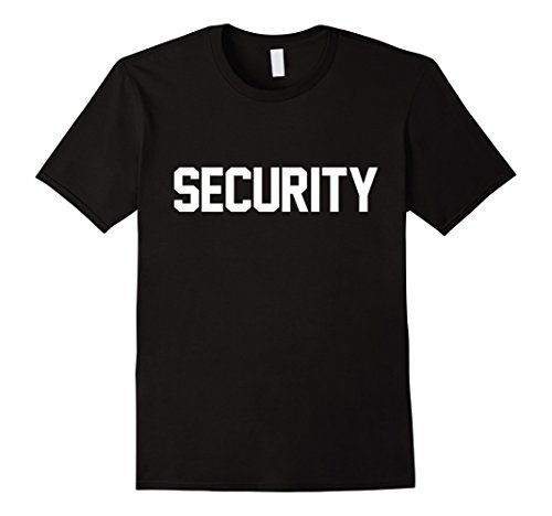 Mens Security Guard Concert Event Safety Halloween Costume Shirt Small (Security Guard Costume Male)