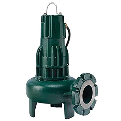 Zoeller 267-0004, Model E267, Waste-Mate 260 Series, Sewage Pump, 1/2 HP, 230 Volts, 1 Phase, 2 NPT Discharge, 125 GPM Max, 22 ft Max Head, 15 ft Cord, Manual