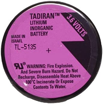 Tadiran TL-5135/P 3.6V 1/6D 1.7 Ah Lithium Battery w/PC Pins