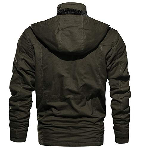 Pardessus Blouse Jacket Casual Militaires Vert Vêtements Pullover Manteau Veste Epais Duveteuse Hommes Army M Sweatshirt Blouson Étoffe Autumne Sport v8pqdgxw