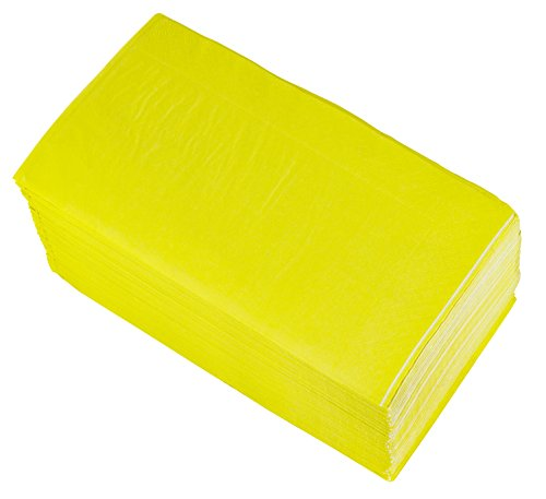 (Paper Dinner Napkins - 120-Pack Disposable Napkins, 2-Ply Absorbent Napkins for Everyday Kitchen, Dining, Events, Parties, Neon Yellow, Unfolded 15.5 x 13 Inches, Folded 7.5 x 4.25 Inches)