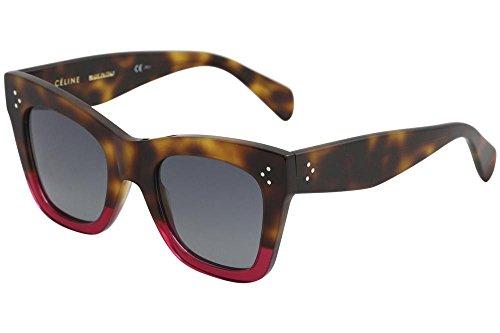 Celine CL41090/S 23A Havana / Fuchsia CL41090/S Square Sunglasses Lens - Sunglasses Celine