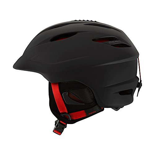 Giro Seam Snow Helmet Matte Black/Bright Red Small (52-55.5 cm)