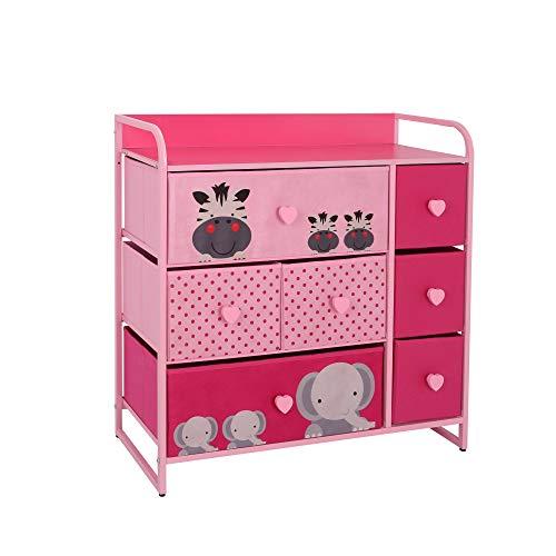 MY LUNA HOME Kids Dresser with 7 Drawers – Nursery Storage & Organizer Furniture for Children, Toddler, Baby– Heavy Duty…
