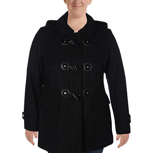 MICHAEL Michael Kors Womens Wool Outerwear Coat Black 14