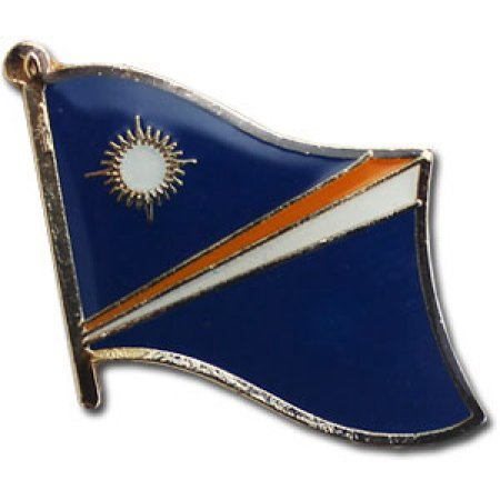 (Backwoods Barnaby Marshall Islands Flag Lapel Pin)