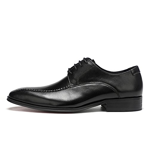 42 Shoes Oxfords Evening Black HUAN Spring Formal Comfort Wedding Pointed Fall Men's Leather Business Toe Party Shoes Dress Color Size qxEEpFHw