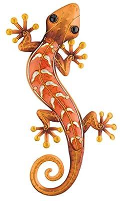 Regal Art & Gift Gecko Wall Decor, 18-Inch, Copper