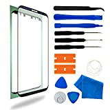 Original Galaxy S8 Screen Replacement, Front Outer Lens Glass Screen Replacement Repair Kit for Samsung Galaxy S8 G950 Series (Galaxy S8 5.8'- Black)