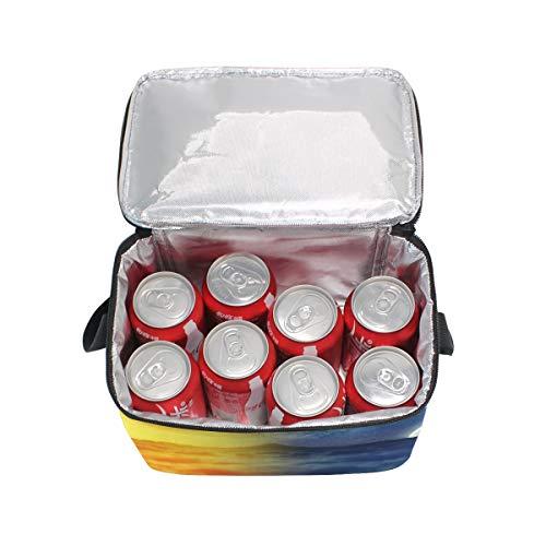 Soleil nique Cooler Deer Feu à déjeuner Boîte à l'eau Sac Lune et Bandoulière Loup pique lunch pour XxwTqR447