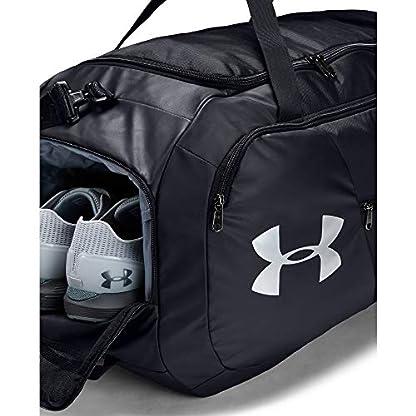 Under Armour Undeniable Duffel 4.0 LG, geräumige Sporttasche, wasserabweisende Umhängetasche Unisex, Schwarz (Black/Black/Silver (001)), Einheitsgröße 4