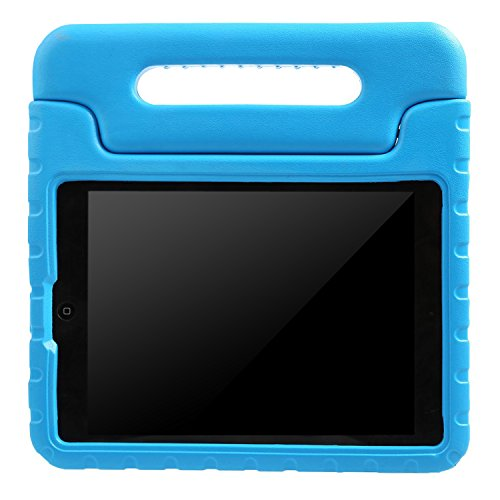 BMOUO Case for iPad Air - Kids Case Shockproof Convertible Handle Light Weight EVA Super Protective Stand Cover for iPad Air (iPad 5th Generation - 2013 Release) 9.7-inch Tablet, Blue