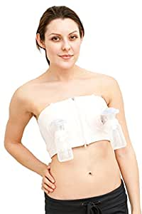 Simple Wishes D Lite Hands Free Breastpump Bra, Soft Pink, X-Small to Large