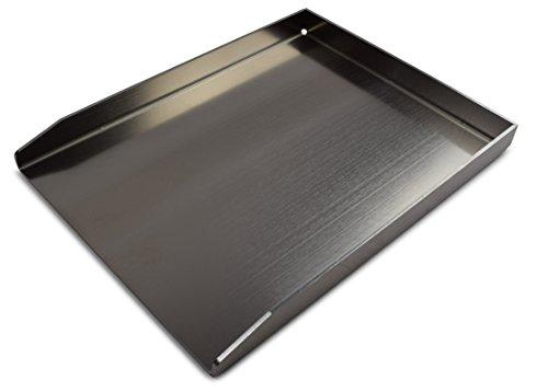 Grillplatte / Grillblech / Plancha   Edelstahl   Massiv (Groß - 40 x 30cm)