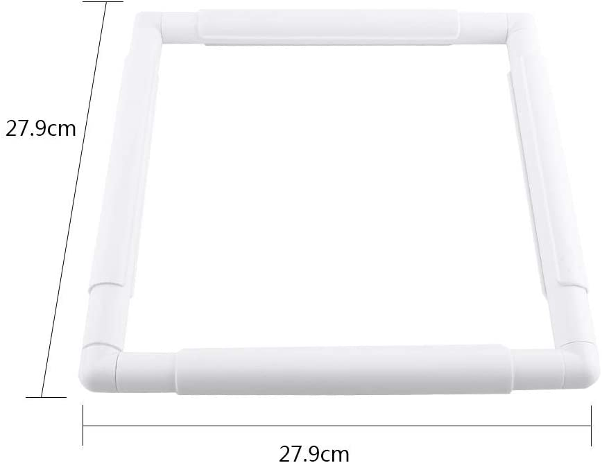 20.3 * 20.3cm Embroidery Frames,Square Rectangle Plastic Clip Frame for Embroidery Cross Stitch Quilting Needlepoint Tool