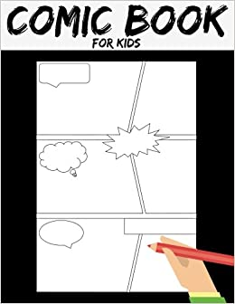 comic book comic template 8 5 by 11 stagged 7 panal gift