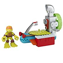 Teenage Mutant Ninja Turtles Pre-Cool Half Shell Heroes Sewer Cruiser with Michelangelo Vehicle and Figure