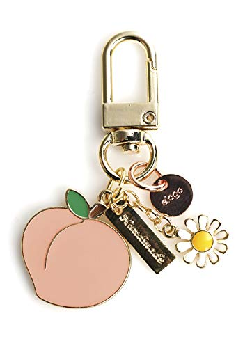 elago AirPods Keyring [Peach] - Charm for AirPods, Handbag, Tote, Purse, Backpack, Bag, Car]()