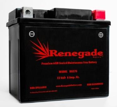 ATV Battery; RGZ7S; Honda 2014-2004 TRX450ER Electric Start & TRX450R; Part# GTZ7S, PTZ7S, BTZ7S, WPZ7S, (Honda Trx450r Parts)