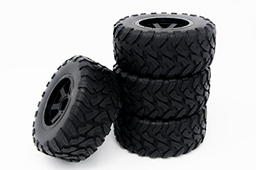 RC Essentials 4X 1/10 Scale Short Course SC Tires and Wheels Traxxas Compatible Fits Associated Losi Kyosho
