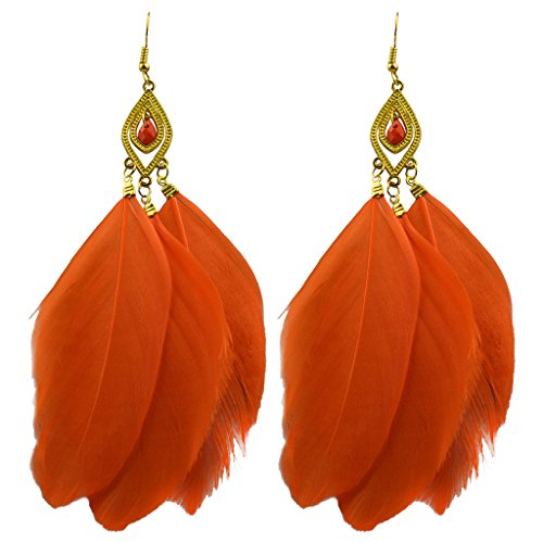 Jiayiqi Girls New Summer Style Gentle Plume Tassel Eardrop Long Pendant Fishhook Earrings - Styles New Summer