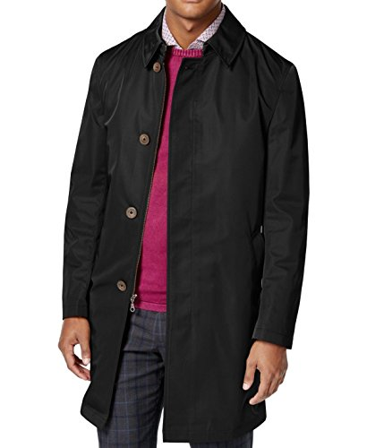 Calvin Klein Slim Fit Black Solid Melford Extra New Men's Rain Jacket (48 Long) by Calvin Klein