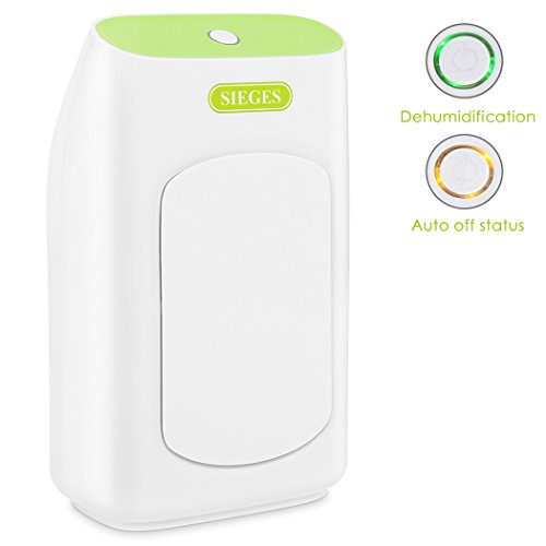 SIEGES Dehumidifier, 700ml Electric Dehumidifier Portable Mini Air Dehumidifiers Auto Quiet 24oz Capacity up to 220 sq ft Anti Overflow Dehumidifier for Home Bathroom Bedroom Closet Office Basement