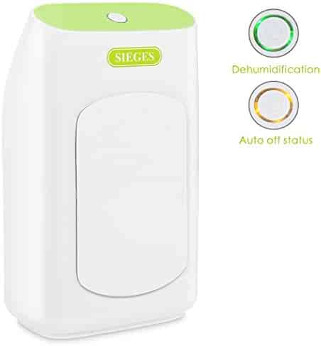 4.2 Pints Water Portable Dehumidifier with 2L iSiLER  Electric Dehumidifier